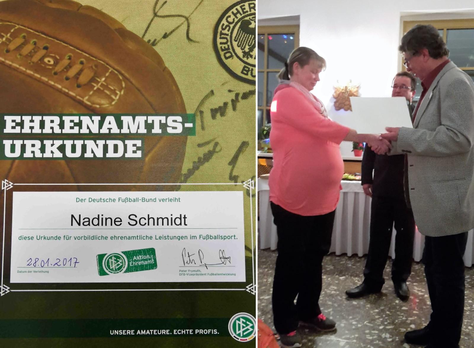 Nadine Ehrenurkunde DFB