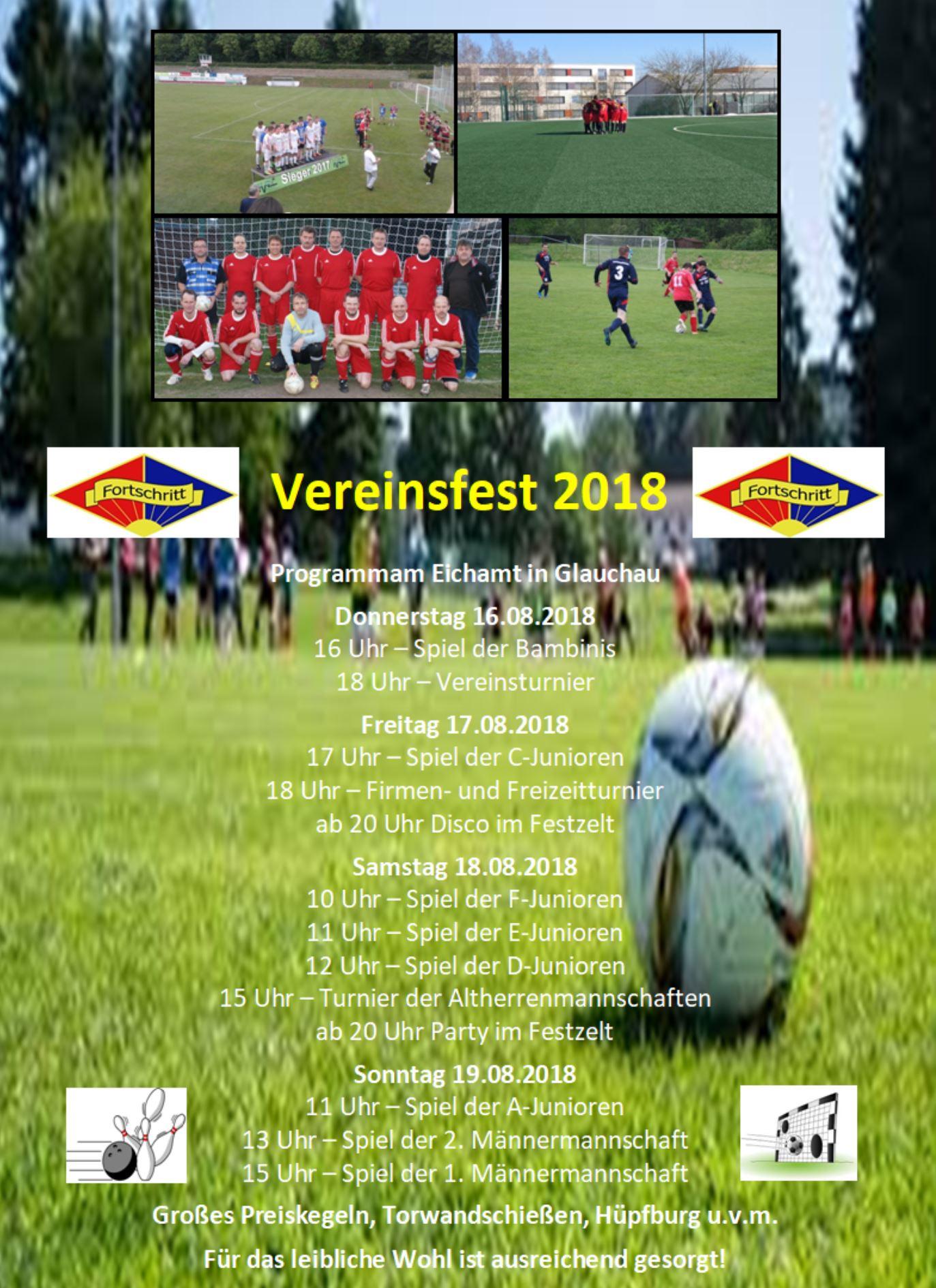 Plakat Vereinsfest 2018