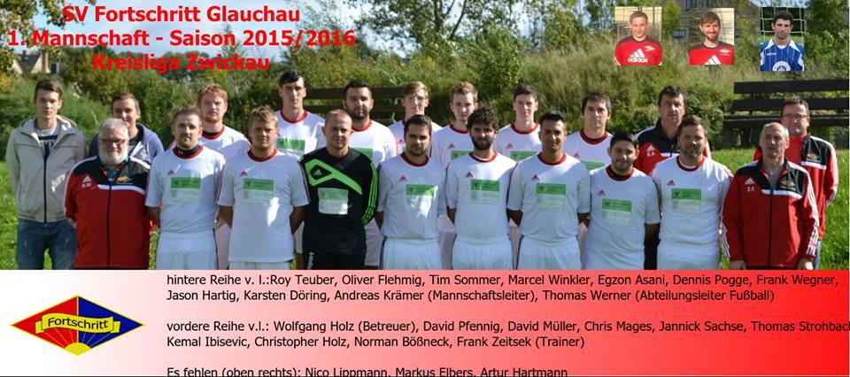 1. Mannschaft des SV Fortschritt Glauchau Saison 2015/16
