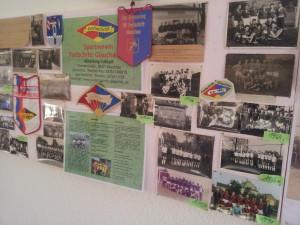Ausschnitt der Ausstellung zur Geschichte des Vereins im Sportlerheim